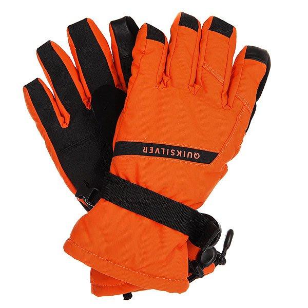 Перчатки сноубордические детские Quiksilver Mission FlameДетские сноубордические перчатки с эргономичной предварительно формованной конструкцией, готовые обеспечить надёжную защиту рук Вашего ребёнка от холода и влаги. 170 г высококачественного утеплителя Warmflight® отлично сохранят тепло, а прочный материал верха и ладонь из искуственной кожи гарантируют долговечность.Характеристики:Утеплитель Warmflight® 170 г.Предварительно формованная конструкция. Ладонь из прочной искуственной кожи. Регулируемый шнурок. Вставка на указательном пальце для управления сенсорным экраном. Замшевая вставка на большом пальце для протирания линзы маски. Фиксатор на запястье. Эластичный лиш.<br><br>Цвет: черный,оранжевый<br>Тип: Перчатки сноубордические<br>Возраст: Детский