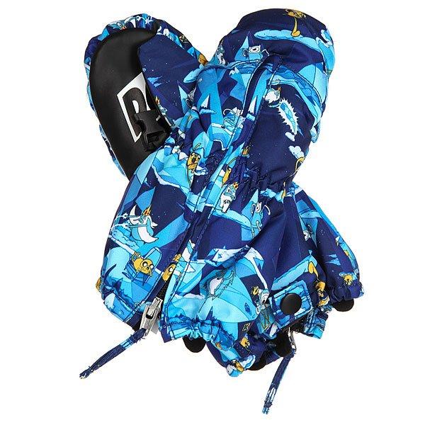 Варежки сноубордические детские DC Molan Adventure TimeДетские сноубордические варежки Molan с утеплителем.Технические характеристики: Утеплитель 130 г.Молния с тыльной стороны ладони.Фиксирующая петля на липучке Velcro на запястье.Регулируемый лиш.<br><br>Цвет: синий,белый<br>Тип: Варежки сноубордические<br>Возраст: Детский