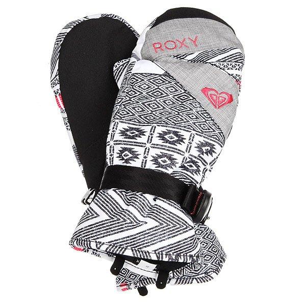 Варежки сноубордические женские Roxy Jetty Windy Road True Black