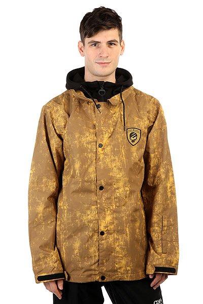 Куртка DC Cash Only Decay Dull GoldПредставляем Вам технологичную сноубордическую куртку, так напоминающую рубашку с капюшоном, способную создать настоящий стритовый образ. Оснащенная дышащим и водонепроницаемым материалом EXOTEX™ 10K, с вшитым капюшоном из водоотталкивающего флиса, со всеми функциями, которые Вы ожидаете получить от любимой сноубордической куртки, модель Cash Onlyникогда не разочарует и добавит стиля Вашим трюкам на склоне. Характеристики:Мембрана EXOTEX™ 10K (10 000 мм, 5 000 г). Капюшон с DWR покрытием. Свободный крой. Подкладка из тафты. Проклеенные в критических местах швы. Снегозащитная юбка. Система крепления к штанам. Теплые карманы на молнии. Внутренний карман на липучке.Сетчатый внутренний карман для маски. Карман для ски-пасса на рукаве.Принт с логотипом на спине и на груди.<br><br>Цвет: зеленый<br>Тип: Куртка утепленная<br>Возраст: Взрослый<br>Пол: Мужской