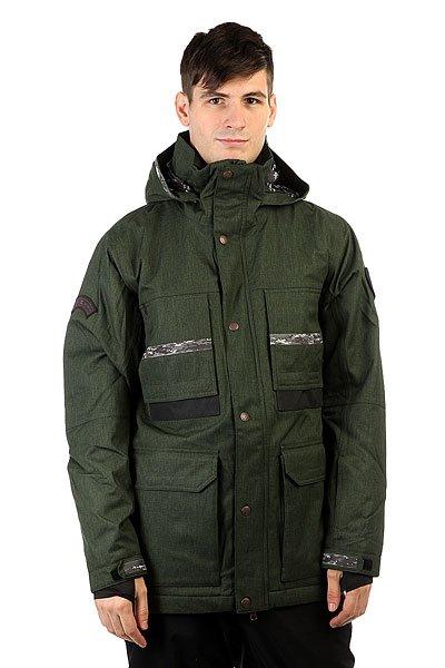 Куртка DC Company Spt Kombu GreenТехнологичная функциональная куртка, выполненная из влагостойкой ткани Exotex 20K с сетчатой подкладкой, сохраняющей тепло. Множество карманов как внутренних, так и внешних, удобная регулировка капюшона и высокий ворот, а также съемная снегозащитная юбка и манжеты из лайкры делают эту куртку пригодной не только для катания по трассам в хорошую погоду, но и отличным вариантом для бэккантри, где очень важна отличная защита от попадания снега внутрь одежды и свободный крой, дающий волю движениям.Характеристики:Влагостойкая тканьExotex 20K (20 000 мм / 20 000 г). Подкладка: тафта и сетчатый материал на спине и на груди для сохранения тепла. Прямой крой. Возможность убрать капюшон в воротник. Полностью проклеенные швы. Сетчатые карманы для вентиляции. Съемная снегозащитная юбка.Капюшон с 3 вариантами регулировки. Небольшой логотип DC на груди.Внутренние манжеты из лайкры. Регулируемые манжеты на липучке. Клапан на молнии для защиты от ветра. Нагрудные вертикальные карманы на молнии.Карман на молнии на рукаве для ски-пасса. Два кармана для рук на молнии. Дополнительные контрастные вставки на локтях. Крепление капюшона к спине. Удлиненная спинка.Внутренний сетчатый карман. Внутренний карман на липучке. Медиа-карман. КоллекцияResearch Mountain.<br><br>Цвет: зеленый<br>Тип: Куртка утепленная<br>Возраст: Взрослый<br>Пол: Мужской