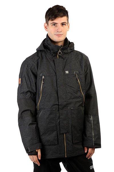 Куртка DC Command BlackТехнологичная функциональная куртка, выполненная из влагостойкой ткани Exotex 20K с сетчатой подкладкой, сохраняющей тепло. Множество карманов как внутренних, так и внешних, удобная регулировка капюшона и высокий ворот, а также съемная снегозащитная юбка и манжеты из лайкры делают эту куртку пригодной не только для катания по трассам в хорошую погоду, но и отличным вариантом для бэккантри, где очень важна отличная защита от попадания снега внутрь одежды и свободный крой, дающий волю движениям.Характеристики:Влагостойкая тканьExotex 20K (20 000 мм / 20 000 г). Подкладка: тафта и сетчатый материал на спине и на груди для сохранения тепла. Прямой крой. Возможность убрать капюшон в воротник. Полностью проклеенные швы. Сетчатые карманы для вентиляции. Съемная снегозащитная юбка.Капюшон с 3 вариантами регулировки. Небольшой логотип DC на груди.Внутренние манжеты из лайкры. Регулируемые манжеты на липучке. Клапан на молнии для защиты от ветра. Нагрудные вертикальные карманы на молнии.Карман на молнии на рукаве для ски-пасса. Два кармана для рук на молнии. Дополнительные контрастные вставки на локтях. Крепление капюшона к спине. Удлиненная спинка.Внутренний сетчатый карман. Внутренний карман на липучке. Медиа-карман. КоллекцияResearch Mountain.<br><br>Цвет: черный<br>Тип: Куртка утепленная<br>Возраст: Взрослый<br>Пол: Мужской