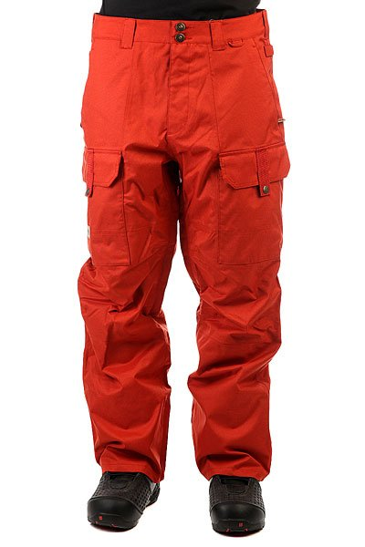 Штаны сноубордические DC Code Ketchup RedСноубордические штаны в военном стиле не будут стеснять Вашидвижения на склоне, позволят пробовать самые смелые трюки и покорять новые вершины. Чем славится военная одежда? Она проходит отличную технологичную подготовку. Не сомневайтесь, в таких штанах ни снег, ни ветер Вас не достанут. Характеристики:Мембрана EXOTEX™ 15K.Свободный крой. Полностью проклеенные швы. Подкладка из тафты. Вентиляция штанин на молнии с сеткой. Система крепления к куртке. Пояс фиксируется липучками. Снегозащитные гетры с DWR покрытием. Теплые карманы для рук на молнии. Накладные карманы с клапаном. Два кармана сзади. Система регулировки длины штанины.<br><br>Цвет: оранжевый<br>Тип: Штаны сноубордические<br>Возраст: Взрослый<br>Пол: Мужской