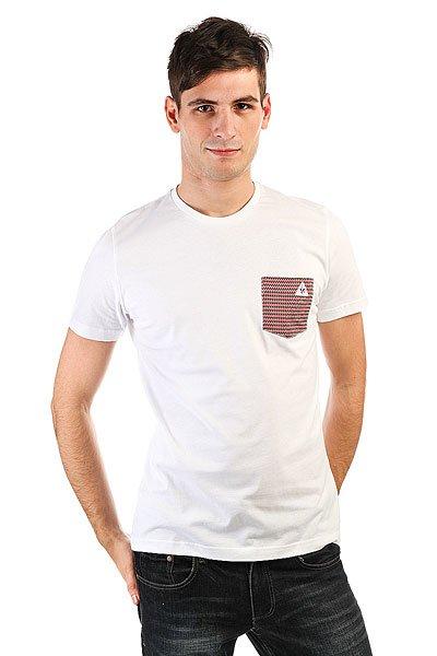 Футболка Le Coq Sportif Geo Jacquard Pocket Optical White<br><br>Цвет: белый<br>Тип: Футболка<br>Возраст: Взрослый<br>Пол: Мужской