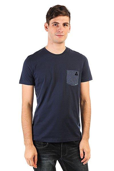 Футболка Le Coq Sportif Geo Jacquard Pocket Dress Blues<br><br>Цвет: синий<br>Тип: Футболка<br>Возраст: Взрослый<br>Пол: Мужской