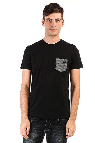 Футболка Le Coq Sportif Geo Jacquard Pocket Black<br><br>Цвет: черный<br>Тип: Футболка<br>Возраст: Взрослый<br>Пол: Мужской