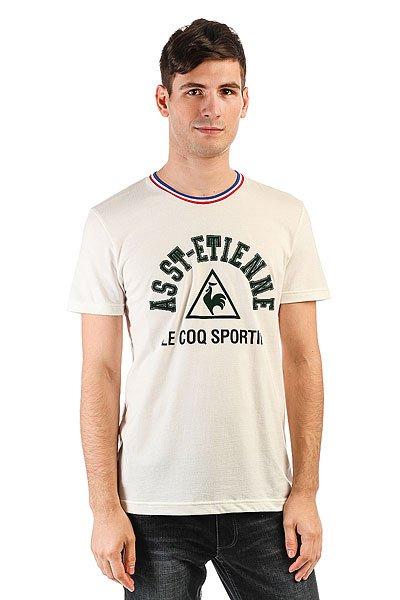 Футболка Le Coq Sportif Asse Marshmallow<br><br>Цвет: бежевый<br>Тип: Футболка<br>Возраст: Взрослый<br>Пол: Мужской