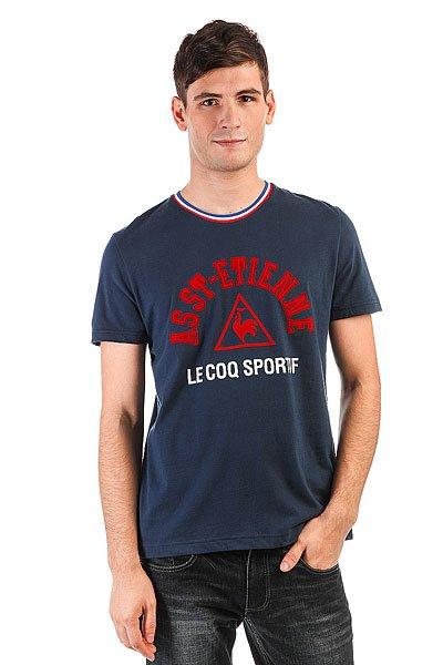 Футболка Le Coq Sportif Asse Dress Blues<br><br>Цвет: синий<br>Тип: Футболка<br>Возраст: Взрослый<br>Пол: Мужской