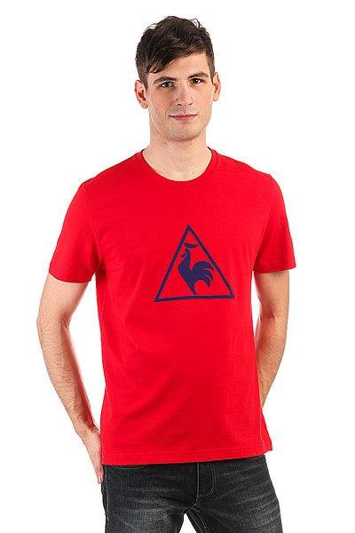 Футболка Le Coq Sportif Abrito Pur Rouge<br><br>Цвет: красный<br>Тип: Футболка<br>Возраст: Взрослый<br>Пол: Мужской