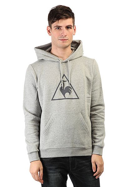 Толстовка кенгуру Le Coq Sportif Affutage Po Hood Brushed Light Heather le coq sportif толстовка классическая le coq sportif ailier fz hood brushed light heather grey