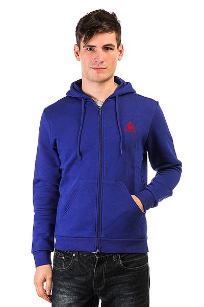 Толстовка классическая Le Coq Sportif Ailier Fz Hood Brushed Ultra Blue le coq sportif толстовка классическая le coq sportif ailier fz hood brushed light heather grey