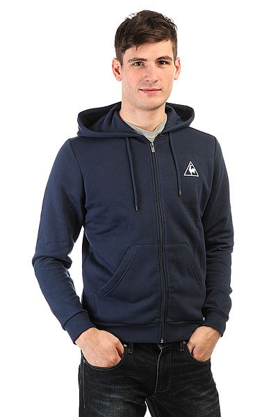 Толстовка классическая Le Coq Sportif Ailier Fz Hood Brushed Dress Blue le coq sportif толстовка классическая le coq sportif ailier fz hood brushed light heather grey