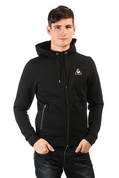Толстовка классическая Le Coq Sportif Lcs Tech Fz Hood Black<br><br>Цвет: черный<br>Тип: Толстовка классическая<br>Возраст: Взрослый<br>Пол: Мужской