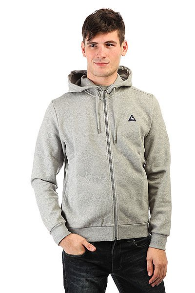 Толстовка классическая Le Coq Sportif Circulom Fz Hood Light Heather Grey le coq sportif толстовка классическая le coq sportif ailier fz hood brushed light heather grey