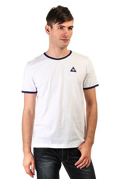 Футболка Le Coq Sportif Fruiba Opt White/Ultra Blue<br><br>Цвет: белый<br>Тип: Футболка<br>Возраст: Взрослый<br>Пол: Мужской
