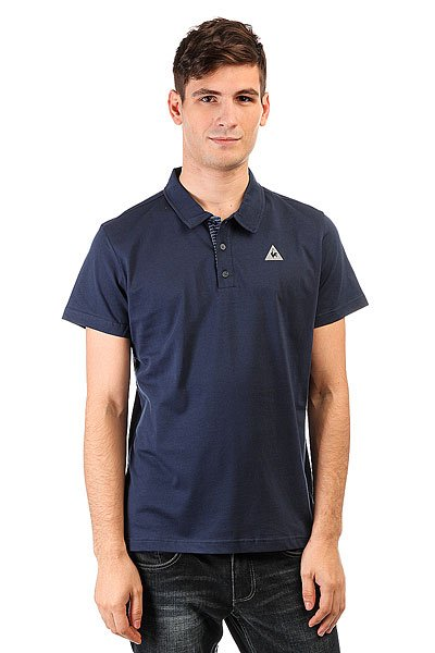 Поло Le Coq Sportif Geo Jacquard Dress Blues