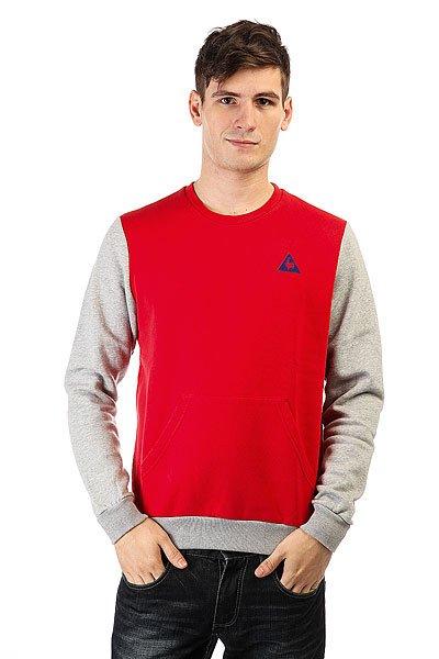 Толстовка кенгуру Le Coq Sportif Helior N°2 Pur Rouge/Light<br><br>Цвет: красный,серый<br>Тип: Толстовка кенгуру<br>Возраст: Взрослый<br>Пол: Мужской