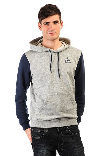 Толстовка кенгуру Le Coq Sportif Helior Po Hood Dress Blues/Light Heath толстовка кенгуру quiksilver keller hood wild ginger