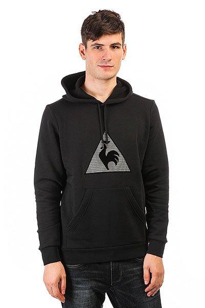Толстовка кенгуру Le Coq Sportif Geo Jacquard Po Hood Black<br><br>Цвет: черный<br>Тип: Толстовка кенгуру<br>Возраст: Взрослый<br>Пол: Мужской