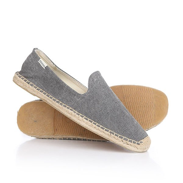 Эспадрильи Soludos Smoking Slipper Dark Gray