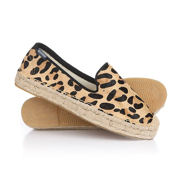Эспадрильи женские Soludos Smoking Slipper Fashion Leopard Print