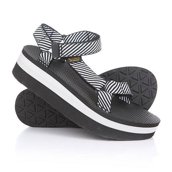 Сандалии женские Teva Flatform Universal Candy Stripe Black цены онлайн