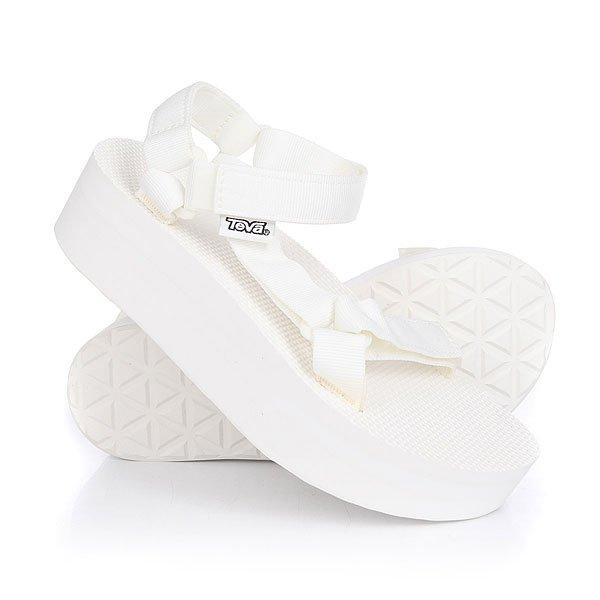 Сандалии женские Teva Flatform Universal Bright White<br><br>Цвет: белый<br>Тип: Сандалии<br>Возраст: Взрослый<br>Пол: Женский