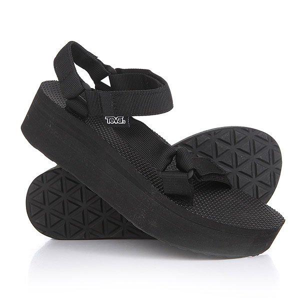 Сандалии женские Teva Flatform Universal Black<br><br>Цвет: черный<br>Тип: Сандалии<br>Возраст: Взрослый<br>Пол: Женский