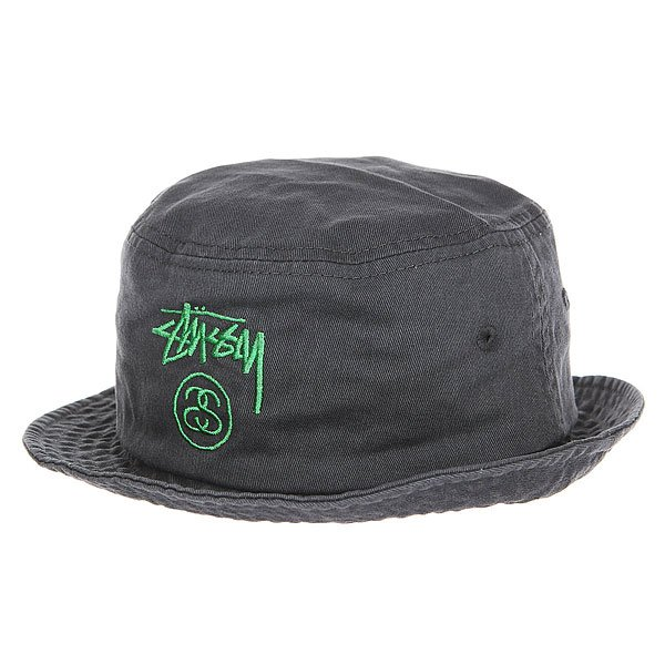 Панама Stussy Stock Lock Pigment Dye Bucket Black