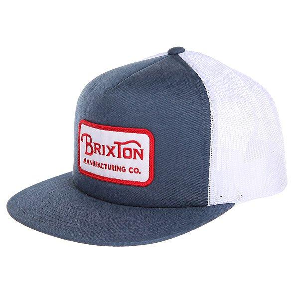 Бейсболка с сеткой Brixton Grade Mesh Cap Washed Navy<br><br>Цвет: синий,белый<br>Тип: Бейсболка с сеткой<br>Возраст: Взрослый<br>Пол: Мужской