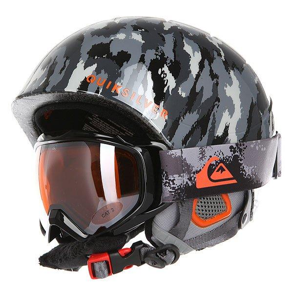 Шлем для сноуборда детский Quiksilver Game Pack Waxdotcamo Grey