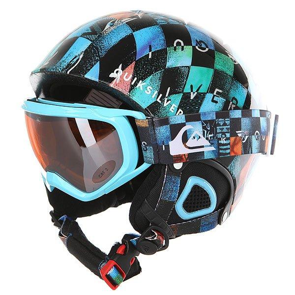 Шлем для сноуборда детский Quiksilver Game Pack Chakalapaki OriginПрочный сноубордический шлем с маской в комплекте.Технические характеристики: Маска в комплекте.Супер легкая двойная микро оболочка с амортизирующей пеной EPS.Верхняя вентиляция с внутренними каналами EPS для эффективного воздухообмена.Теплая и комфортная подкладка из флиса и сетки.Мягкие термоформованные ушные накладки.Интегрированная система регулировки объема.Зажим для маски.Оправа маски из полиуретана.Эргономичная пена 10 мм для максимального комфорта.Ремешок с регулировкой.Сферические линзы с фильтром 2 категории и покрытием против царапин и запотевания.100% защита от ультрафиолетовых лучей.<br><br>Цвет: мультиколор<br>Тип: Шлем для сноуборда<br>Возраст: Детский