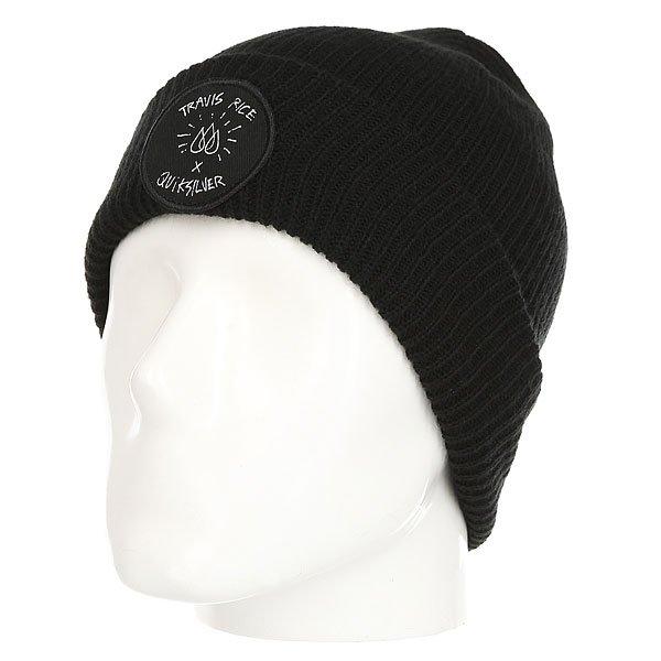 Шапка Quiksilver Tr Beanie Black<br><br>Цвет: черный<br>Тип: Шапка<br>Возраст: Взрослый<br>Пол: Мужской