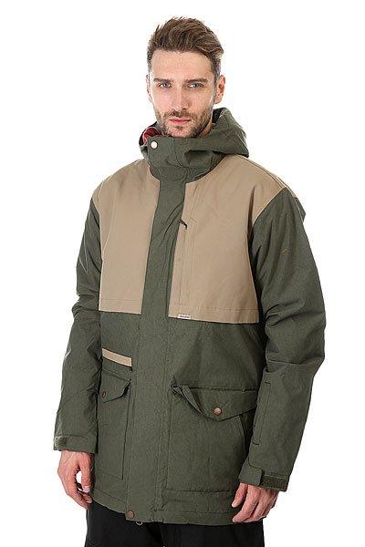 Куртка Quiksilver Horizon Forest Night<br><br>Цвет: зеленый,бежевый<br>Тип: Куртка утепленная<br>Возраст: Взрослый<br>Пол: Мужской