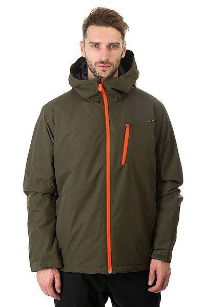 Куртка Quiksilver Mission Plus Forest Night<br><br>Цвет: зеленый<br>Тип: Куртка утепленная<br>Возраст: Взрослый<br>Пол: Мужской