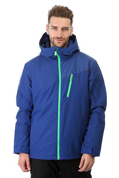Куртка Quiksilver Mission Plus Sodalite BlueМужская сноубордическая куртка Mission Plus, в которой сочетаются современные технологии и стильный дизайн. Мембрана DryFlight® 10К и утеплитель Warmflight® обеспечат тепло и комфортное катание в течении всего дня. Можете быть уверены что снег, ветер и непогода не помешают Вам получить максимум удовольствия.Технические характеристики: Синтетический Оксфорд.Утеплитель Warmflight® (тело 140 г, капюшон 80 г, рукава 100 г).Подкладка из тафты.Непринужденный крой, который обеспечивает максимальный комфорт и свободу передвижения.Критические швы проклеены.Вентиляционные отверстия на молнии с сеточной подкладкой.Регулируемый капюшон.Внутренние эластичные манжеты.Внешние манжеты с регулировкой на липучках.Карманы для рук.Карман для скипасса.Внутренний карман для маски.Фиксированная снежная юбка на кнопках.Система пристегивания куртки к штанам.Брелок для ключей.Подол на утяжке для защиты от ветра.<br><br>Цвет: синий<br>Тип: Куртка утепленная<br>Возраст: Взрослый<br>Пол: Мужской