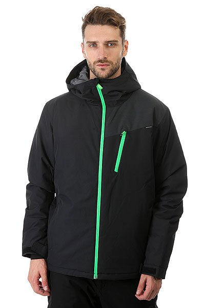 Куртка Quiksilver Mission Plus Black<br><br>Цвет: черный<br>Тип: Куртка утепленная<br>Возраст: Взрослый<br>Пол: Мужской