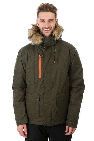 Куртка Quiksilver Selector Plus Forest Night<br><br>Цвет: зеленый<br>Тип: Куртка утепленная<br>Возраст: Взрослый<br>Пол: Мужской