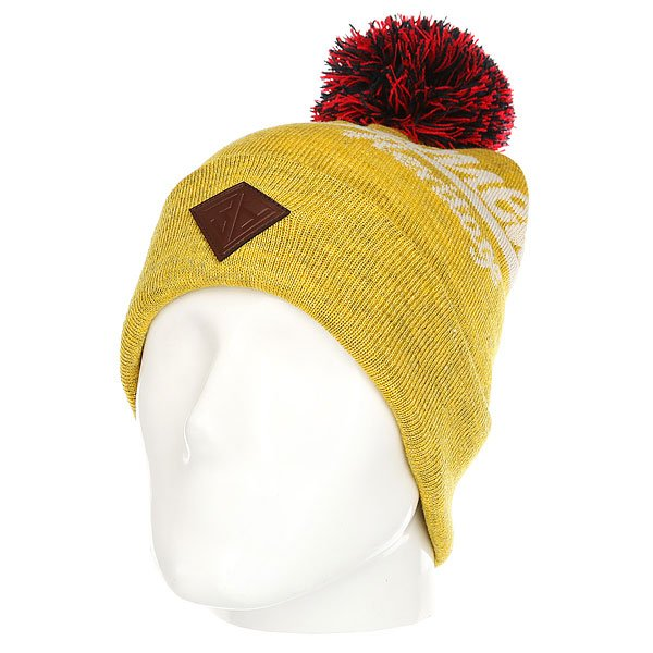 Шапка Запорожец Zap Classic Logo Yellow Melange/Beige<br><br>Цвет: желтый<br>Тип: Шапка<br>Возраст: Взрослый<br>Пол: Мужской