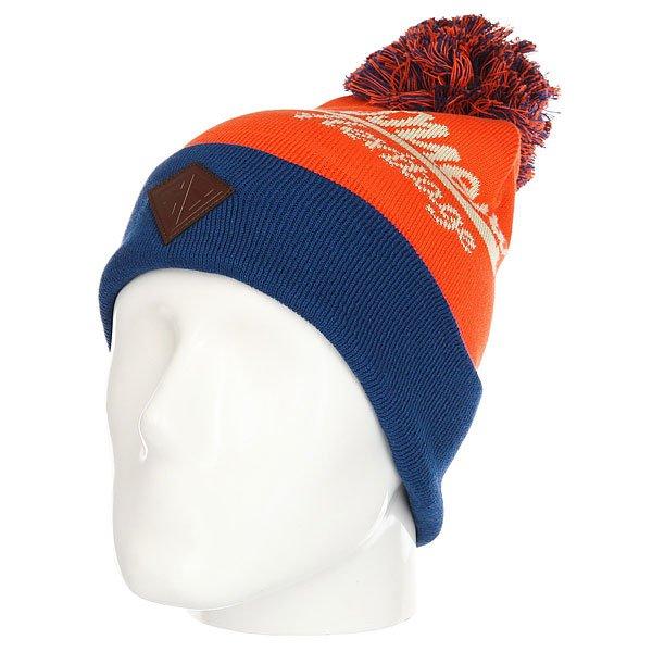 Шапка Запорожец Original Logo Pom Brown/Blue Beige<br><br>Цвет: оранжевый,синий<br>Тип: Шапка<br>Возраст: Взрослый<br>Пол: Мужской
