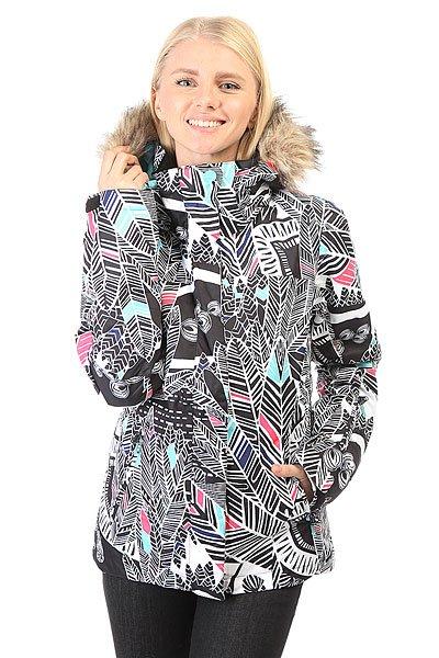 куртка женская roxy jet ski цвет синий erjtj03124 bfk9 размер s 42 Куртка женская Roxy Jet Ski Jk Ha-hui True Black