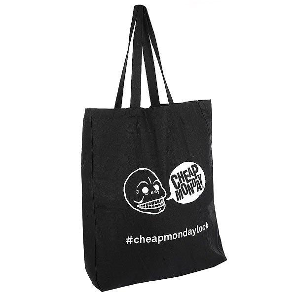 Сумка женская Cheap Monday Tote Bag BlackУниверсальная сумка-тоут из плотной хлопковой ткани для Ваших повседневных вещей.Технические характеристики: Сумка-тоут.Двойные ручки.Контрастная графика с логотипом Cheap Monday.<br><br>Цвет: черный<br>Тип: Сумка<br>Возраст: Взрослый<br>Пол: Женский