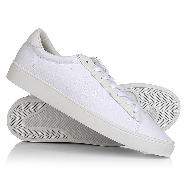 Кеды кроссовки низкие Fred Perry Spencer Canvas/Leather White