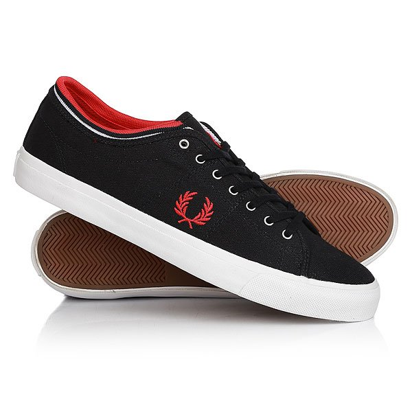 Кеды кроссовки низкие Fred Perry Kendrick Tipped Cuff Canvas Real Navy