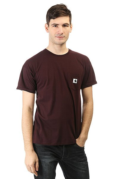 Футболка Carhartt Wip Wss Carry Pocket Grey<br><br>Цвет: бордовый<br>Тип: Футболка<br>Возраст: Взрослый<br>Пол: Мужской