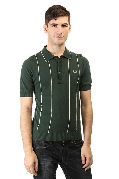Поло Fred Perry Vertical Strip Knitted Green