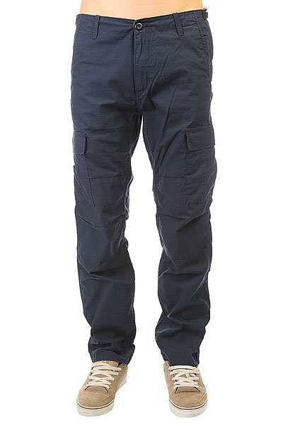 Штаны прямые Carhartt Wip Aviation Pant Navy Rinsed