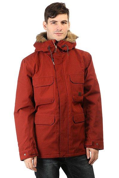 Куртка зимняя Billabong Olca BrickКуртка с повышенным уровнем тепла и с супер теплым утеплителем, который выдержит любое испытание. Коллекция Surfplus.Технические характеристики: Плотный утеплитель (140 г тело, 100 г рукава).Подкладка из ткани Ripstop.Водостойкое покрытие.Фиксированный капюшон с подкладкой из шерпы.Искусственный мех на капюшоне.Нагрудные карманы, карманы для рук и потайной карман.Манжеты с регулировкой на кнопках.Подол на утяжке для дополнительной защиты от ветра.Застежка на молнии с ветрозащитным клапаном.<br><br>Цвет: коричневый<br>Тип: Куртка зимняя<br>Возраст: Взрослый<br>Пол: Мужской