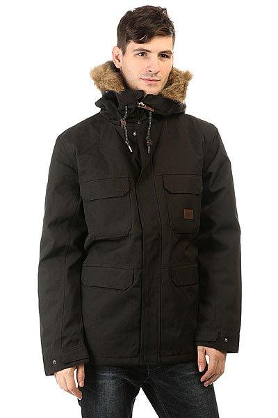 Куртка зимняя Billabong Olca BlackКуртка с повышенным уровнем тепла и с супер теплым утеплителем, который выдержит любое испытание. Коллекция Surfplus.Технические характеристики: Плотный утеплитель (140 г тело, 100 г рукава).Подкладка из ткани Ripstop.Водостойкое покрытие.Фиксированный капюшон с подкладкой из шерпы.Искусственный мех на капюшоне.Нагрудные карманы, карманы для рук и потайной карман.Манжеты с регулировкой на кнопках.Подол на утяжке для дополнительной защиты от ветра.Застежка на молнии с ветрозащитным клапаном.<br><br>Цвет: черный<br>Тип: Куртка зимняя<br>Возраст: Взрослый<br>Пол: Мужской