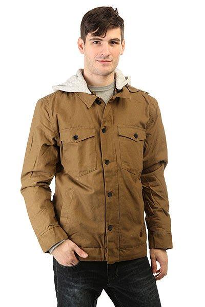 Куртка Billabong Trenton Sherpa CamelУтепленная мужская куртка с шерпой. В основе дизайна куртки использовались элементы рабочей одежды, а также одежды для серфинга, поэтому модель Trenton можно по праву считать курткой на все случаи жизни.Технические характеристики: Теплая куртка с подкладкой из шерпы.Капюшон из флиса.Нагрудные карманы, карманы для рук и потайной карман.Застежка на молнии с ветрозащитным клапаном.<br><br>Цвет: коричневый<br>Тип: Куртка<br>Возраст: Взрослый<br>Пол: Мужской